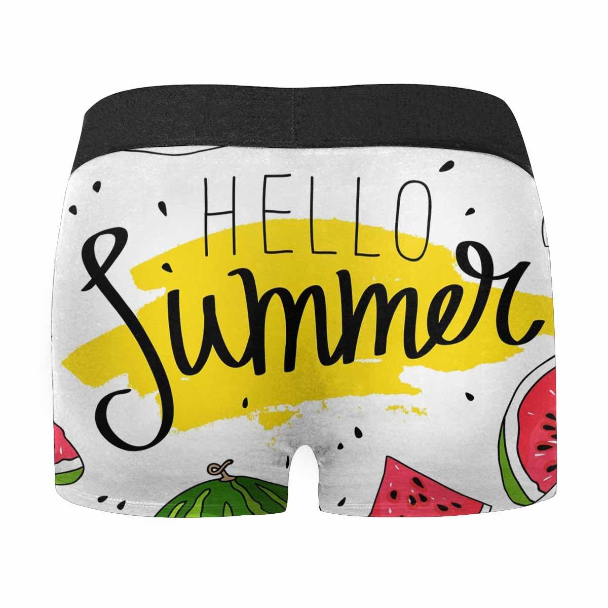 INTERESTPRINT Mens All-Over Print Boxer Briefs Hello Summer XS-3XL