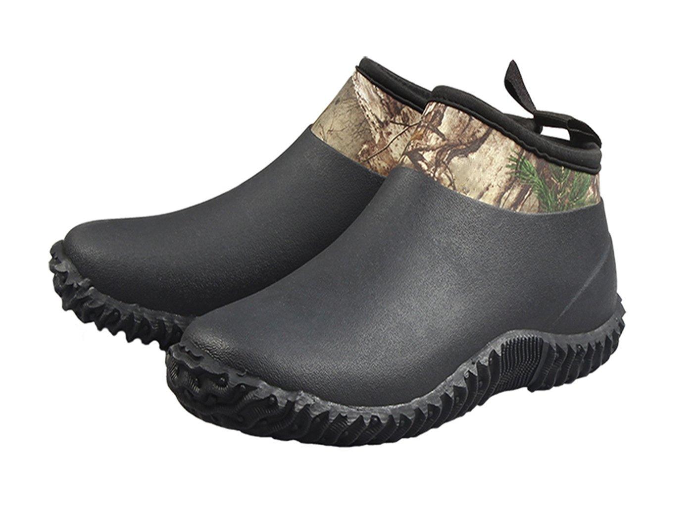 LH Neoprene Unisex Rain Boots and Gardening Shoes B074MTNXV9 7 M US Men/9 M US Women|Black
