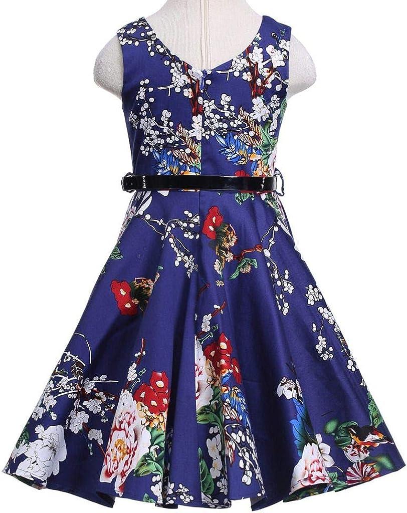 Happy Rose Girls Dress Vintage Floral Party