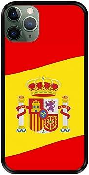 Funda Negra para [ iPhone 11 Pro MAX ] diseño [ Ilustración 2, Bandera de España ] Carcasa Silicona Flexible TPU: Amazon.es: Electrónica