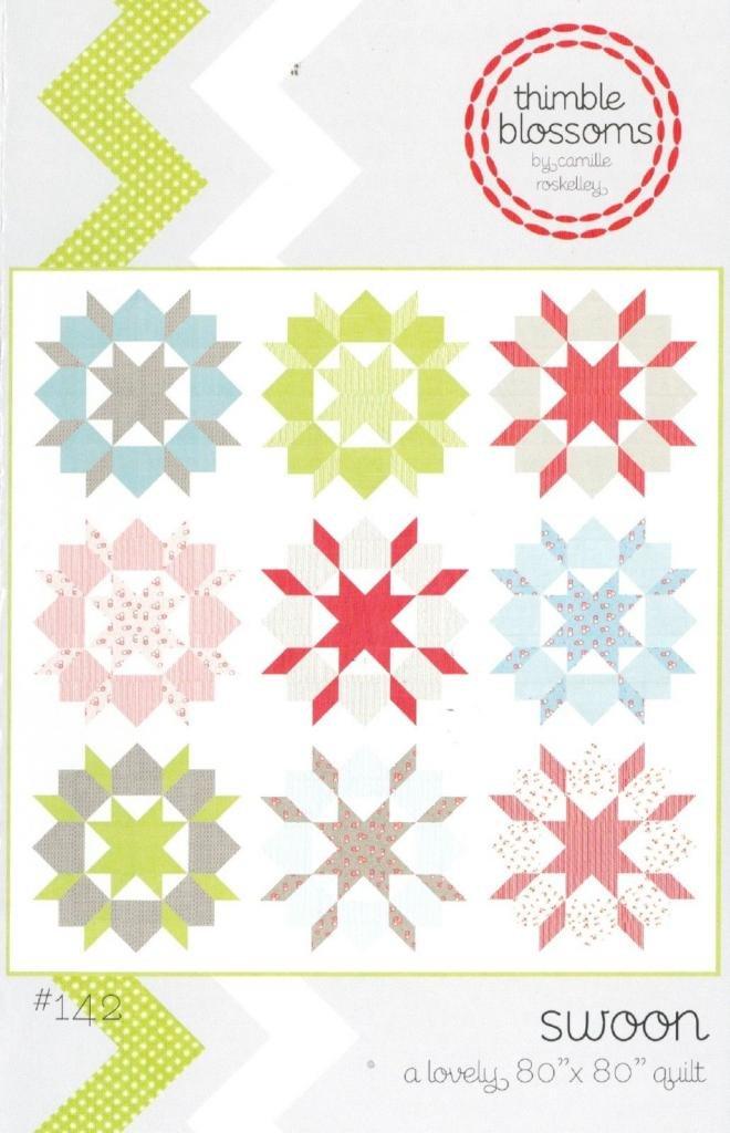 Amazon.com: Swoon Quilt Pattern, Fat Quarter Friendly, 24 Inch ...