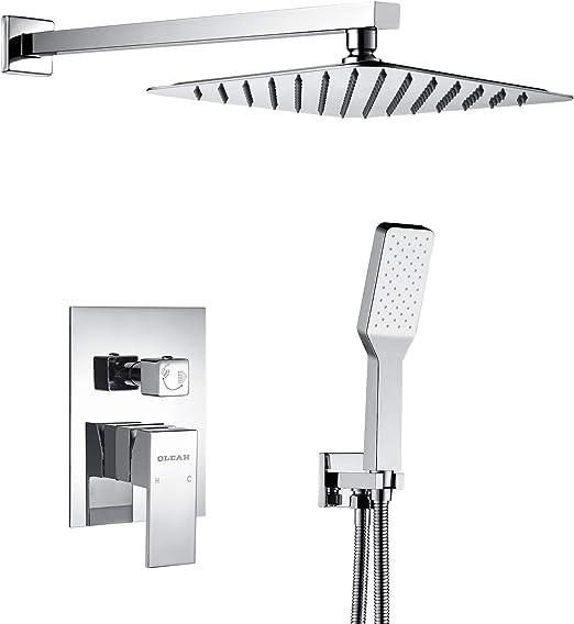 OLEAH Mezclador de baño Grifos de ducha Sistema de ducha integrado ...