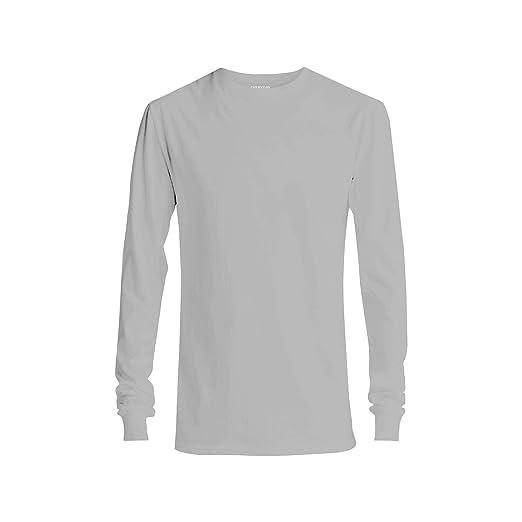 4a9e48da61d56e GAP Men's Long Sleeve Crew Neck T Shirt (Gray, X-Small) | Amazon.com