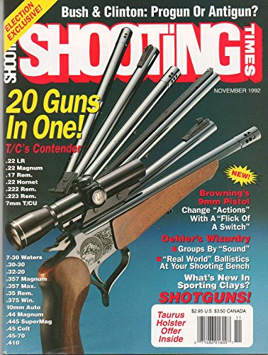 Shooting Times November 1992 Magazine BROWNING'S 9mm PISTOL: CHANGE