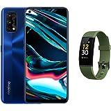 Realme 7 Pro Smartphone - Dual SIM,128GB, 8GB RAM,Mirror Blue (UAE Version) with Fitness band Green