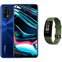 Realme 7 Pro Smartphone - Dual SIM,128GB, 8GB RAM,Mirror Blue (UAE Version) with Fitness band Green