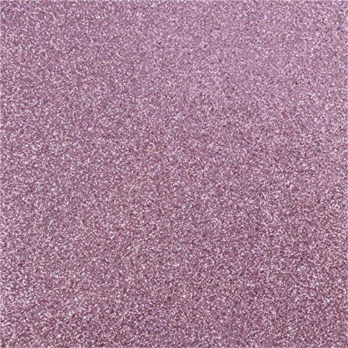 10 Pcs 300gsm Sparkling Glitter Cardstock Scrapbooking Craft Paper for Christmas DIY Decoration, Wedding, Birthday, Monograms 12 x 12 (Lavender)