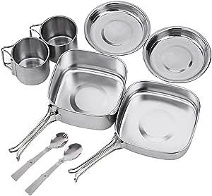 NATUREFUN Mini Kit de Utensilios de Cocina portatil y Ligero ...