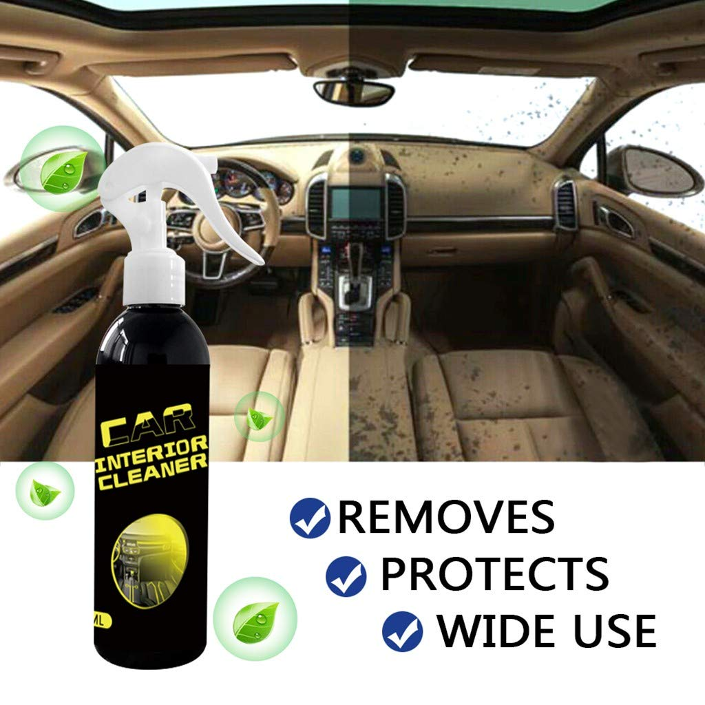 Multifunction Car Interior Exterior Leather Rinse Free Cleaning Agent Auto Refurbishing Cleaner Accessories Leather Repair Restoration Spary for Car Seat,Sofas (100ML)