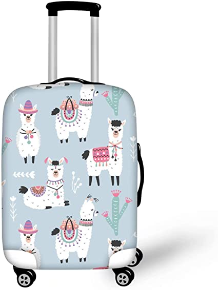 Cute Cartoon Hedgehog Print Luggage Protector Travel Luggage Cover Trolley Case Protective Cover Fits 18-32 Inch