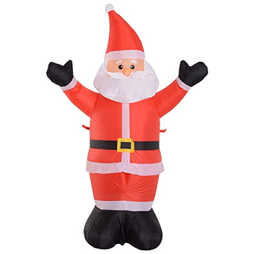 HOMCOM Papá Noel Hinchable Luminoso Luces LED decoración de ...