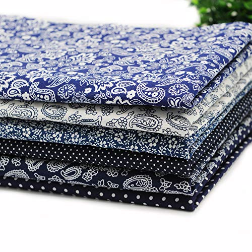 Fat Quarter Cotton Fabric Pre-Cut Quilting Assortments,Good Quality Craft Cloth Bundle Squares,DIY for Sewing Crafting Rose Flavor(18 by 20.5Inch)