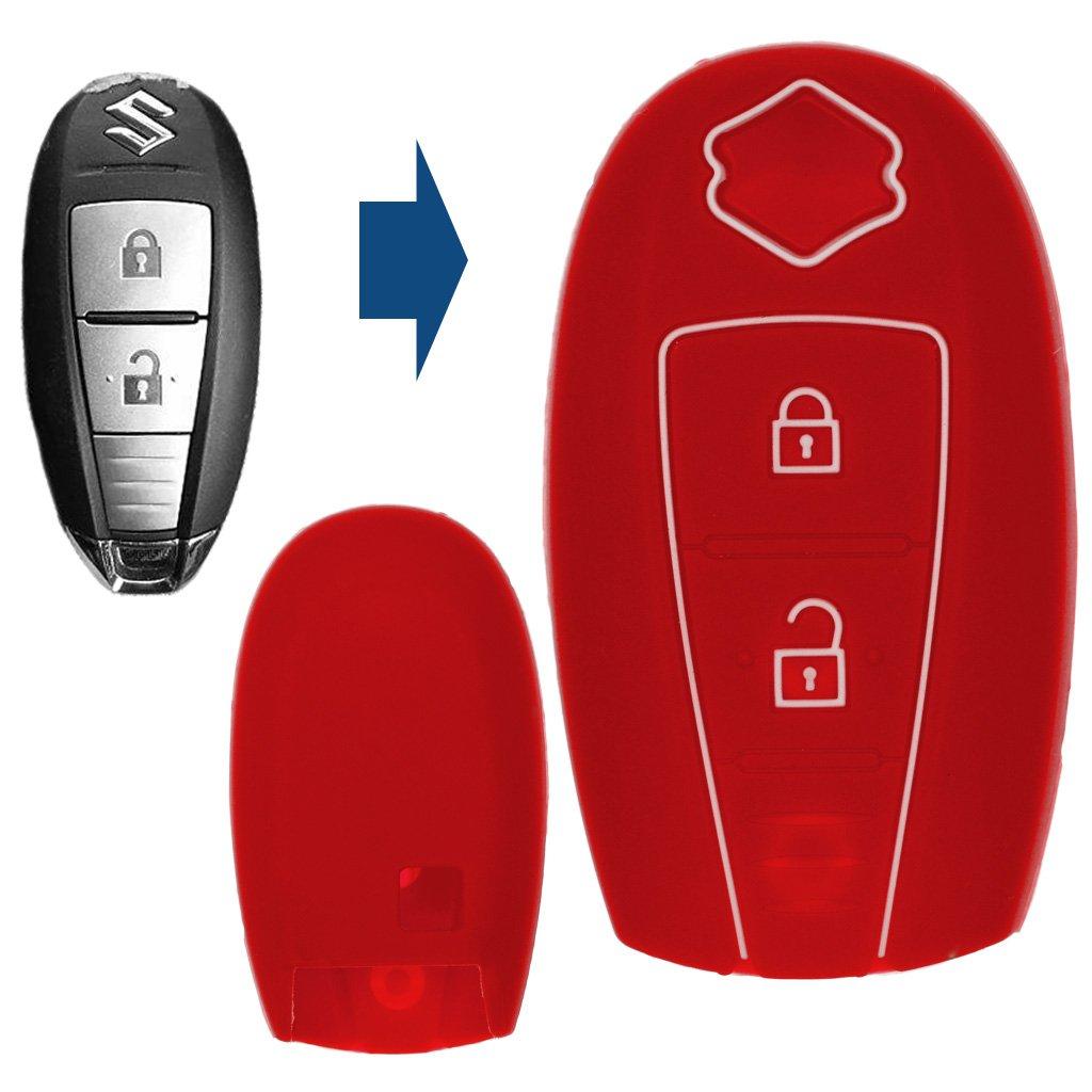 Carbon Soft Case Cover Cubierta de la Llave del Coche Cubierta Protectora de Silicona KEYLESS para Suzuki Swift Vitara SX4 S-Cross Baleno Jimny Ignis