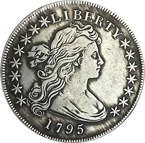 BoBoLing Best Morgan US Dollars-1795 US Old Coin Collecting - Uncirculated Great American Coin - USA Old Original Pre Morgan Dollar ()