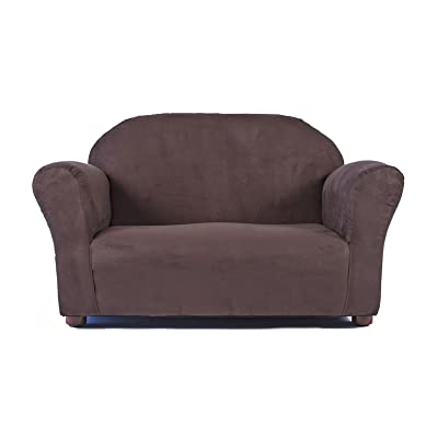 Keet Roundy Microsuede Children's Sofa, Brown: Baby