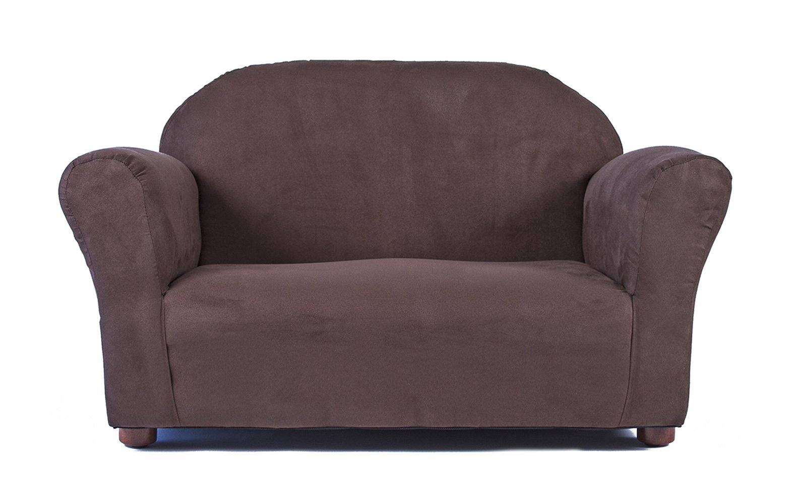 Keet Roundy Microsuede Children's Sofa, Brown by Keet