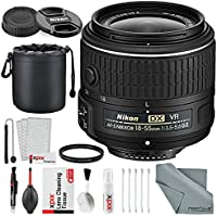 Nikon AF-S DX NIKKOR 18-55mm f/3.5-5.6G VRII Lens Bundle with 52mm UV Filter + Lens Pouch + XPIX Professional Cleaning Kit