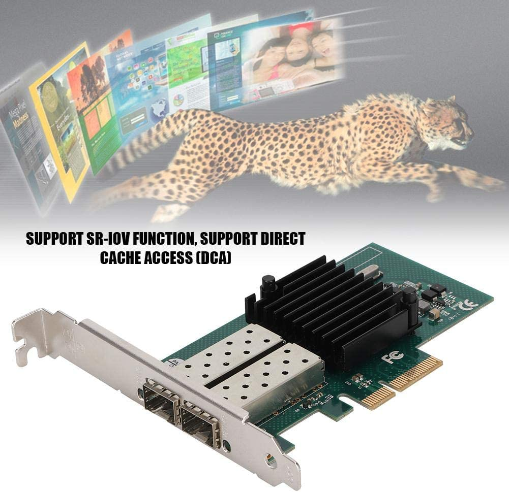 PCI-E Gigabit Network Card,PCI-E X4 Dual Port Processor Ethernet Network Adapter for Desktop,Workstation,Server,Network Server Adapter with Drive CD,for Win 7//8//10,DOS,Linux