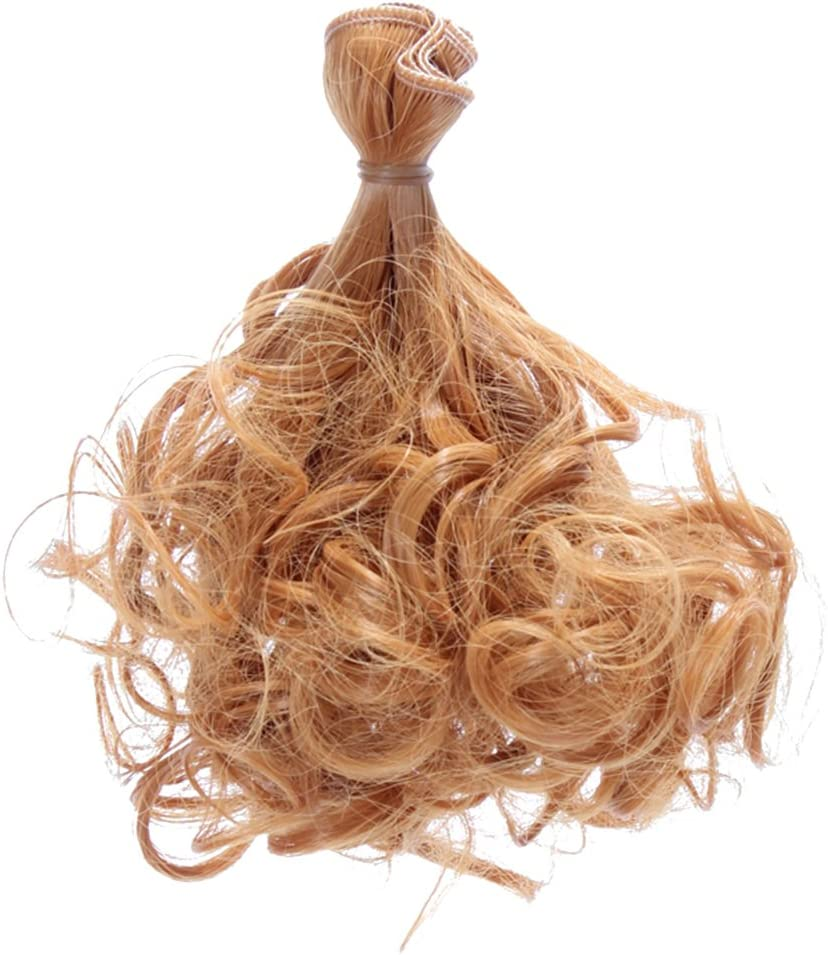 shyymaoyi Perruque de cheveux synth/étiques raides et naturels pour poup/ée