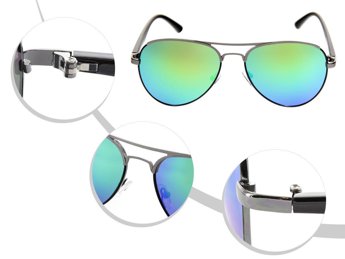 LOOX Pilotenbrille Sonnenbrille Herren Damen Retro Fliegerbrille Modell Miami cEFWijUoLy
