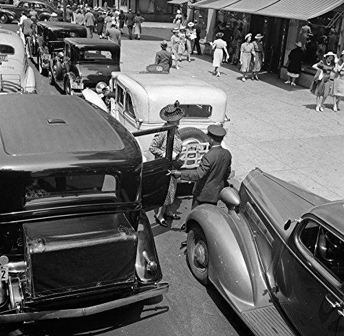 Nyc Fifth Avenue 1939 Na Woman Exiting A Private Limousine On 5Th Avenue Near 57Th Street In New York City Photograph By Dorothea Lange July 1939 Poster Print by (18 ()