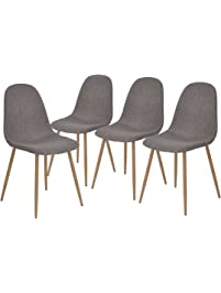 greenforest dining side chairs strong metal legs fabric cushion seat and back for dining room chairs