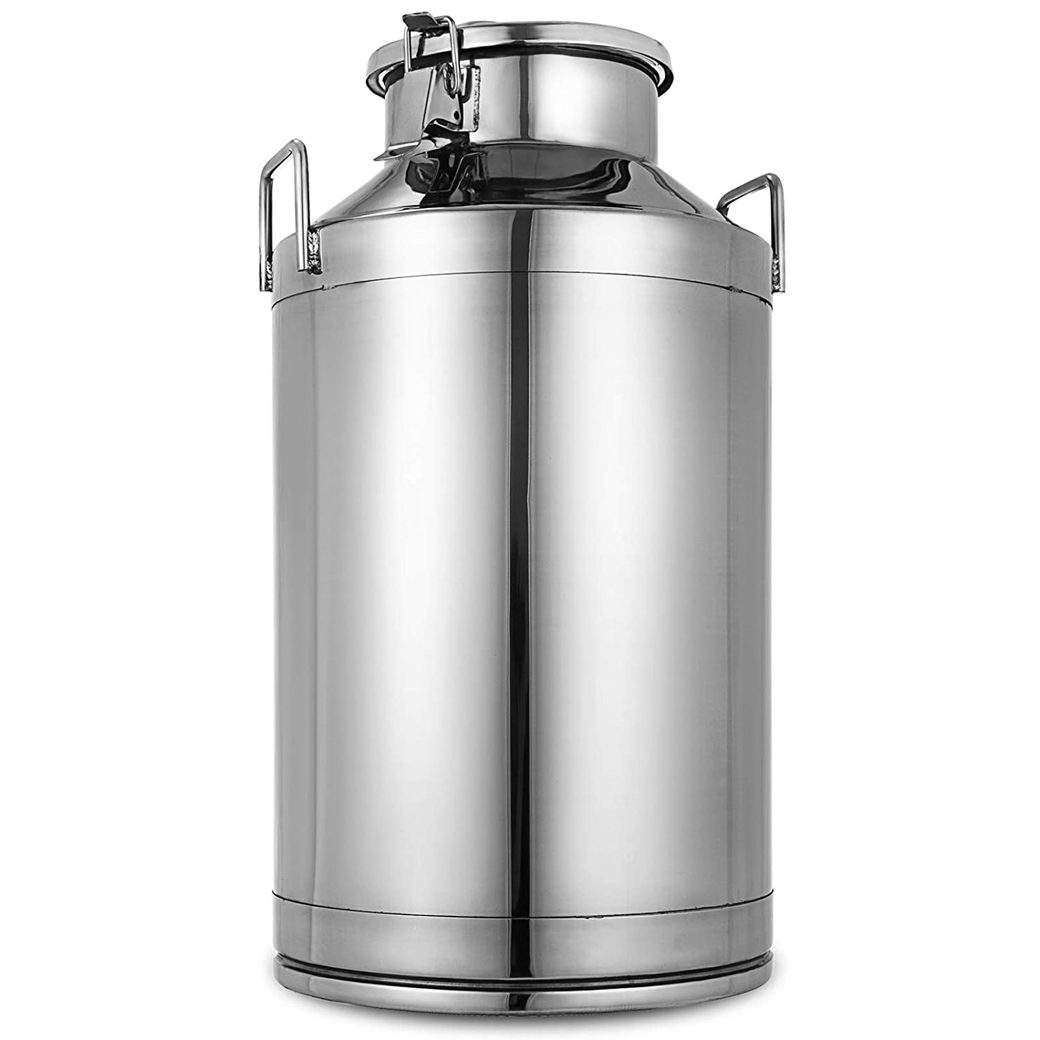 Mophorn Stainless Steel Milk Can 20 Liter Milk bucket Wine Pail Bucket 5.25 Gallon Milk Can Tote Jug with Sealed Lid Heavy Duty (20L)