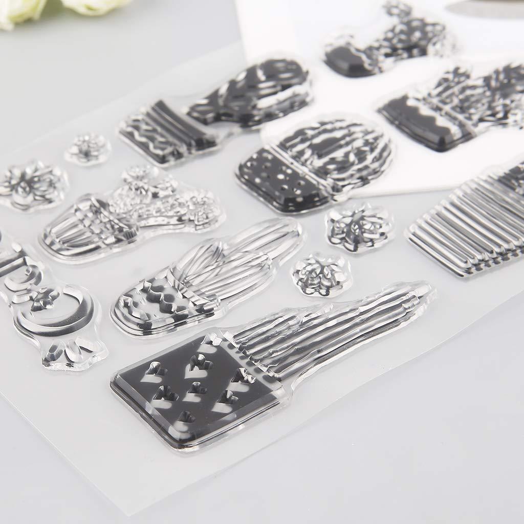 DIY Scrapbooking Baiyao Kaktus klaren Stempel Kartenherstellung Planer Journaling