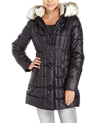 553859ff48d Image Unavailable. Image not available for. Color  LAUNDRY BY DESIGN Toggle  Puffer Coat ...