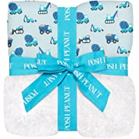 Posh Peanut Baby Plush Patoo Blanket - Large Premium Reversible Knit Viscose from Bamboo - Snuggly Security Toddler…