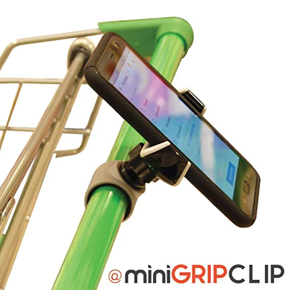 Shopping Cart Cell Phone Holder with Secure Clip! Universal Smart Phone  Clip for car, Stroller, Golf cart and Much More!