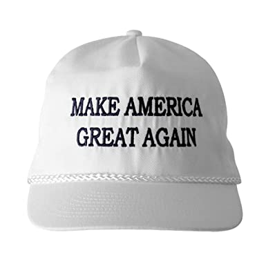 a850f6da MAKE AMERICA GREAT AGAIN! - Trump 2016 Adjustable Cap with Rope Front,  Beautiful Embroidered