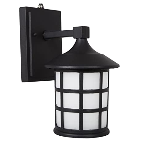 outdoor wall lights with photocell led wall maxxima led outdoor wall light black metal cage wfrosted glass photocell sensor glass