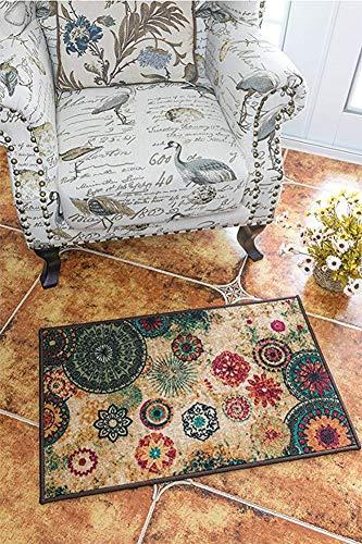 MeMoreCool Fashion Home,Designer Boho Retro Style Living Room Floor Carpets,Colorful Upscale Home Decoration Mats,Elegant Washable Bohemia Rugs