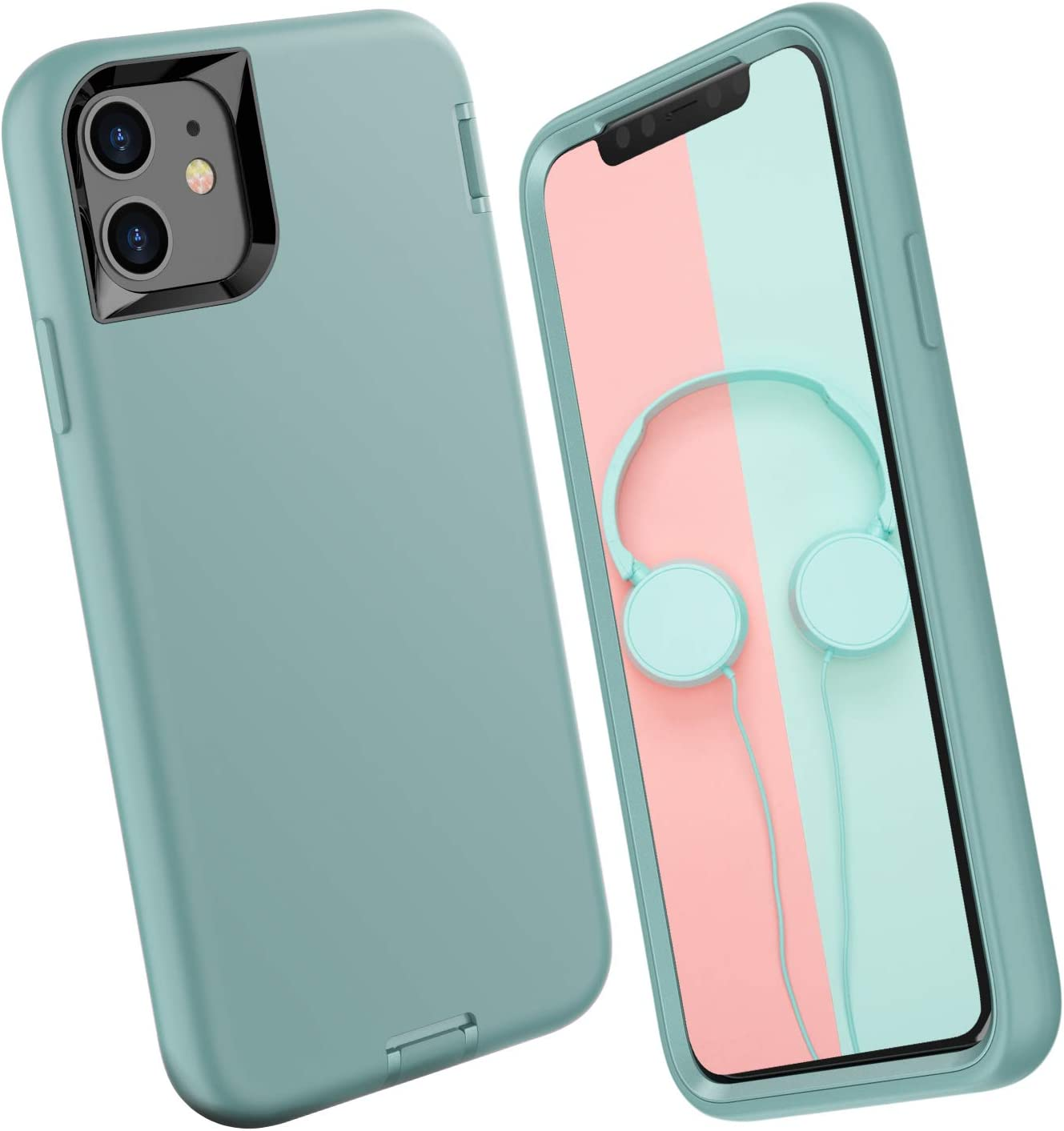 ORIbox Exalted Series Liquid Silicone iPhone 11 Case, Soft-Touch Finish of The Liquid Silicone Exterior Feels, No Regret Case for iPhone 11 for Women & Men, Green