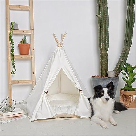 Ruick Pet - Tienda de Campaña India de Algodón para Perros y Gatos