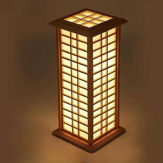 XINQIDENG Lámpara de pie, iluminación de la decoración del Rattan ...