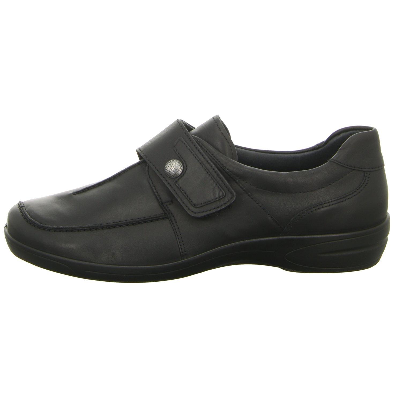 ara Ancona 12-46374-01 Comodidad Para Mujer Zapatillas Zapatos Para Varios Suelos extraancha, Color Negro, Talla 5.5