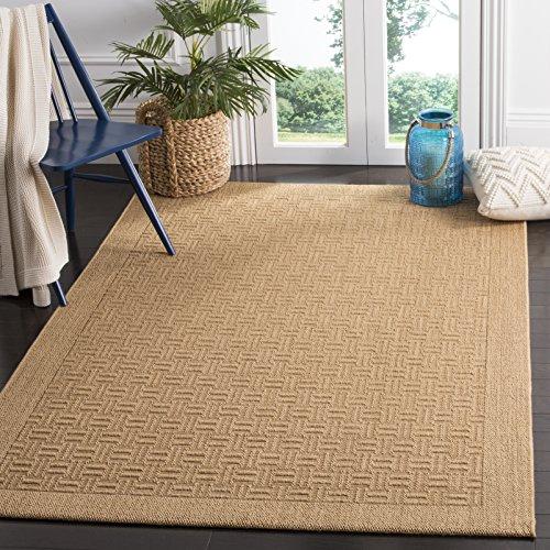 Collection PAB359M Maize Sisal & Jute Area Rug (3' x 5') (Palm Sisal Rug)