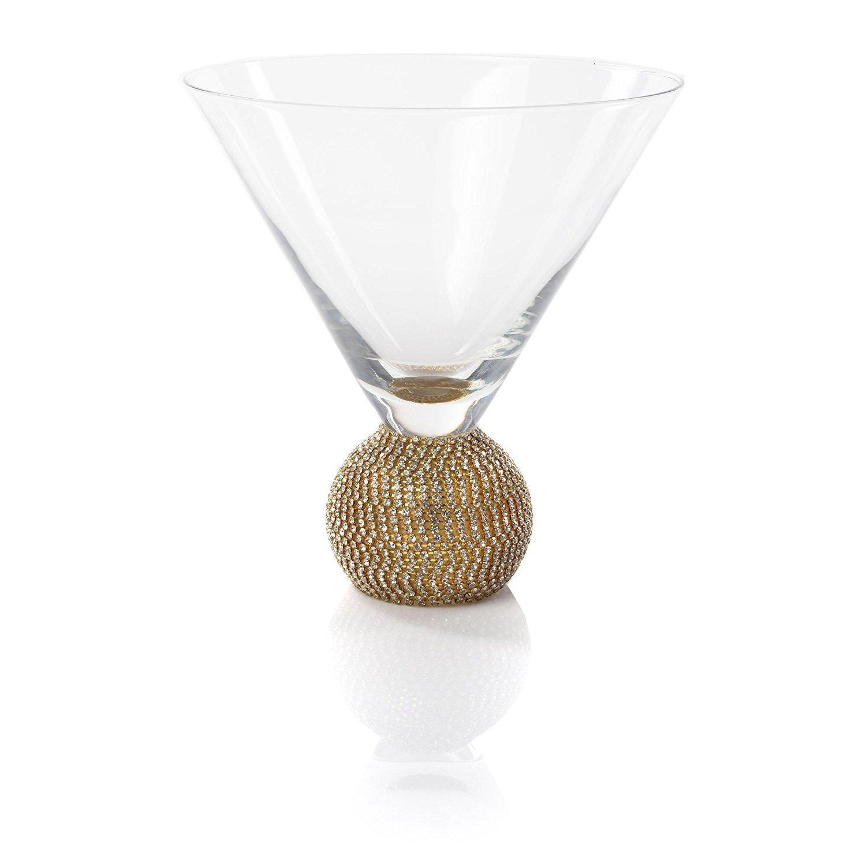 IMPULSE! Gold Biarritz Martini Glasses, Set of 4 Glasses 5674-4