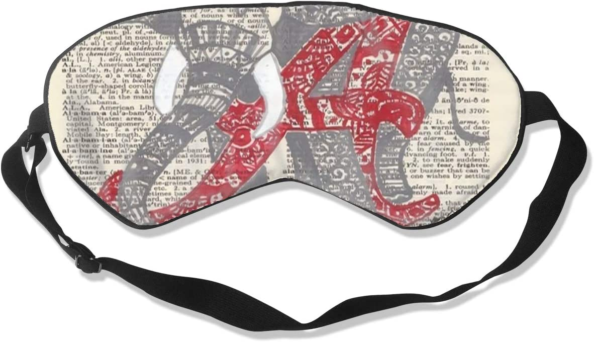 NiYoung 100% Silk Eye Mask Alabama Elephant Sleep Mask Eye Cover for Games Party Sleeping Travel/Best Sleeping Eye Mask Eye Cover with Elastic Band
