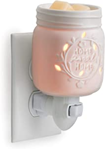 CANDLE WARMERS ETC Pluggable Fragrance Warmer- Decorative Plug-in for Warming Scented Candle Wax Melts and Tarts or Essential Oils, Mason Jar