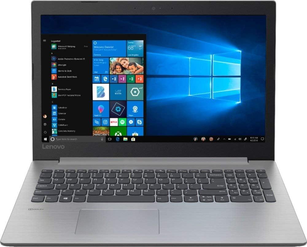 2019 Lenovo 15.6-Inch HD WLED Flagship Laptop | Intel Quad-core Processor | 8GB DDR4 | 256GB SSD | Wireless-AC | DVD-RW | HDMI | Card Reader | Bluetooth | Webcam | Windows 10