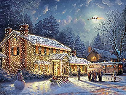 Thomas Kinkade Christmas.Ceaco Thomas Kinkade National Lampoon S Christmas Vacation Jigsaw Puzzle 300 Pieces