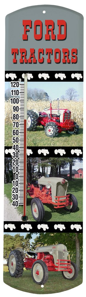 Heritage America by MORCO 375TFORD Tractor-Ford Outdoor or Indoor Thermometer, 20-Inch