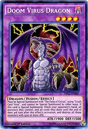 YU-GI-OH! - Doom Virus Dragon (DRL2-EN003) - Dragons of Legend 2 - 1st Edition - Secret Rare by: Amazon.es: Juguetes y juegos