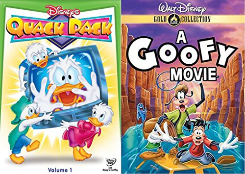 Disney's Duck Cartoon Quack Pack Volume 1 & A Goofy Movie (Gold Collection) 2-DVD Bundle