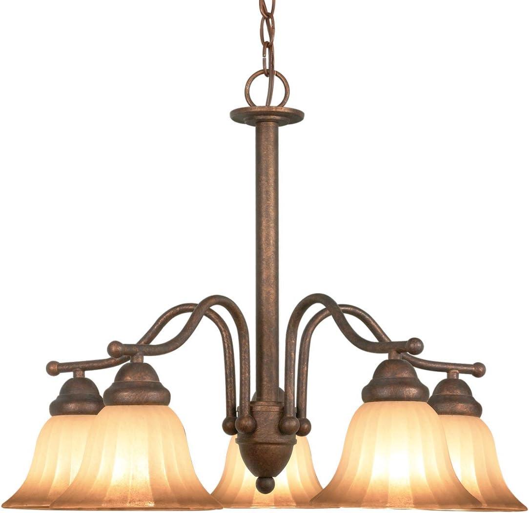 Woodbridge Lighting 10021-MBZ Morgan Park 5-Light Chandelier, 24 x 18 , Marbled Bronze