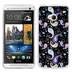 One Tough Shield ? Slim-Fit Hard Cover Case for HTC ONE - (Paisley/Black)