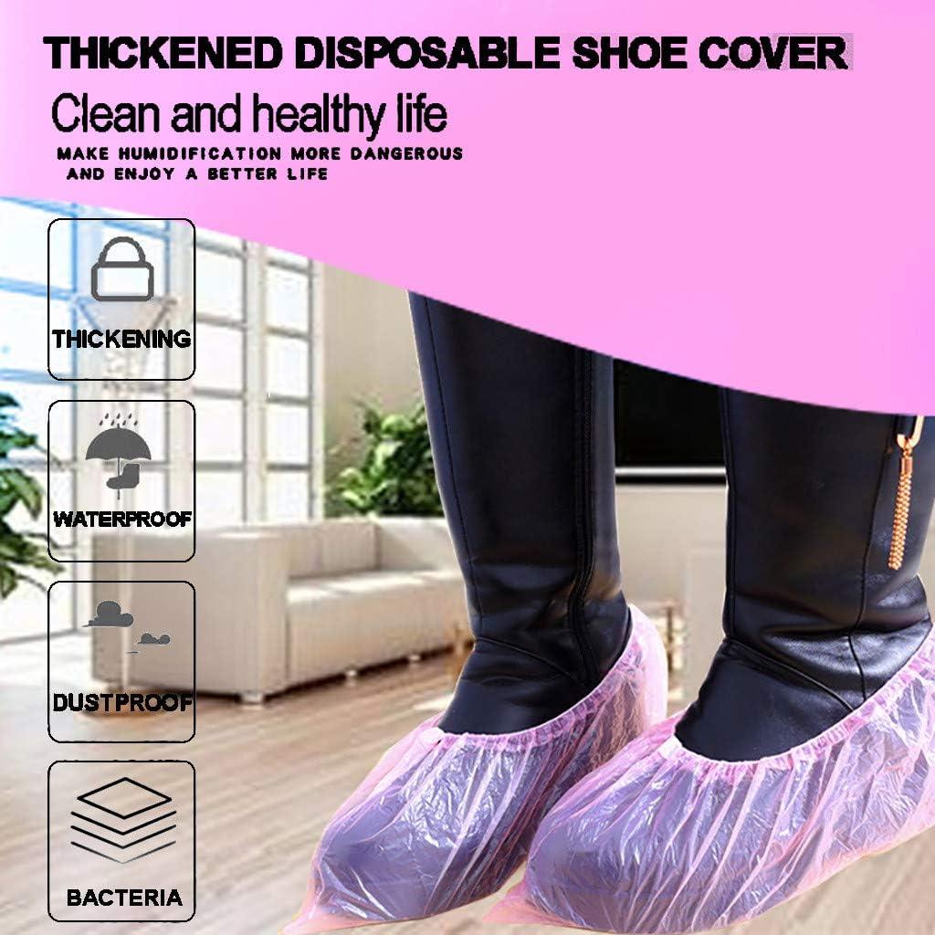 Reciclables Resistentes al Agua Fiosoji 100PC Cubiertas Desechables para Botas y Zapatos para Interiores y Exteriores,Duraderas